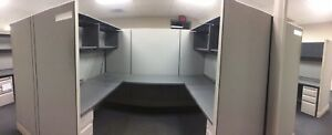 Herman Miller Office Cubicles 4 cubes Approx 6 X 8 Each Setup In A Square