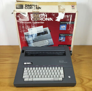 Smith Corona Sl575 5a a Spell Right Portable Electric Typewriter Tested Working