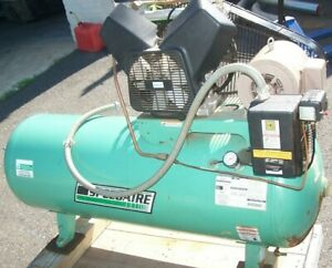 Speedaire 3 Hp 80 Gallon Air Compressor 3 Ph 208 230v 90 Psi Max 5z702a