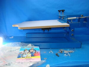 1 Color Screen Press Pallet Silk Press With Adjustable Pallet