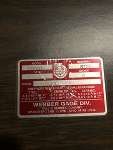 Starrett Webber Gage Block 81pc Set Complete Rs81a1 Steel Grade 0