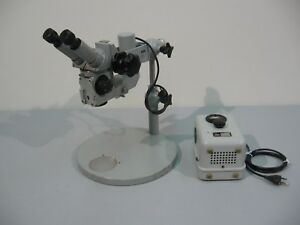 Zeiss Opmi 1 Microscope With Table Stand And Power Supply Tested Working