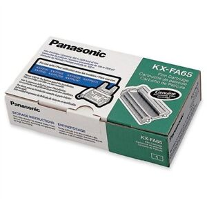 Panasonic Black Ribbon Cartridge Black Thermal Transfer 330 Page kxfa65