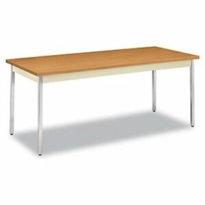 Hon Rectangular Metal Utility Table Rectangle 4 Legs 72 X utm3072clchr