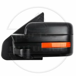 Black For 2004 2014 Ford F 150 Power Heated Mirrors Driver Left Lh Side Mirror