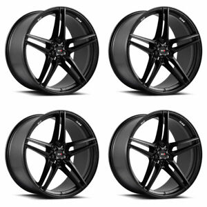 20 Savini Sv F3 Forged Black Concave Wheels Rims Fits Jaguar Xkr