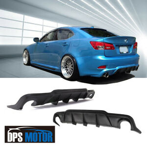 Wad Urethane Rear Bumper Lip Diffuser Body Kits For 06 12 Lexus Is250 Is350 4dr