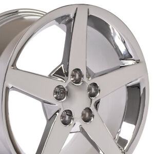 18x9 5 17x9 5 Wheels Fit Corvette Camaro C6 Style Chrome Rims Set cp