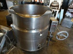 Market Forge Ft 80le Floor Style 80 Gallon Electric Manual Tilting Tilt Kettle