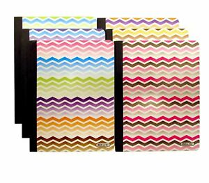 Set Of 6 Chevron Composition Notebooks 100 Page College Ruled Non punc New