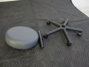 New Unused Gray Galaxy Dental Stool For Operatory Seating Fully Inspected