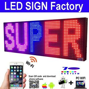 New Smd Led Sign 39 X 14 Bright Led Scrolling Message Display Program New