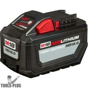 Milwaukee 48 11 1812 M18 Red Lithium High Output Hd12 0 Battery Pack New