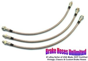 Stainless Brake Hose Set Hudson Commodore Six Eight 1952