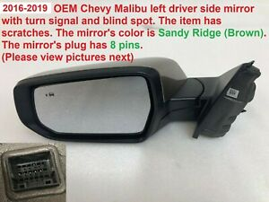 2016 2018 Chevy Malibu Left Side Mirror W Turn Signal And Blind Spot 84288196