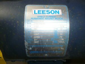 Leeson Direct Current Permanent Magnet Motor 3 4 Hp 1750 Rpm