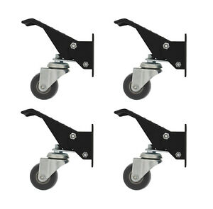 Dct Heavy duty Workbench Cart Swivel Caster Wheels With Mounting Bracket 4 pack