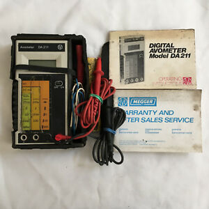Vintage Avo Meter Avometer Da211 Digital Multimeter Tester Made In Japan 1980 s