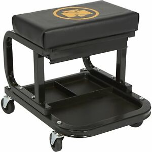 Northern Tool Equipment Mechanic s Roller Seat With Drawer 300lb Capacity