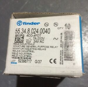 Finder Cube Relay 55 34 8 024 0040 Plug in Relay 24vac Box Of Ten