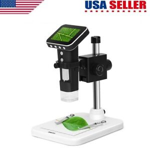3 5 Lcd 500x Zoom Desktop 8 led Lab Usb Digital Microscope 5mp Hd Camera Us