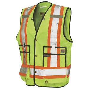 Work King Class 2 High visibility Surveyor Vest Green Small s31311