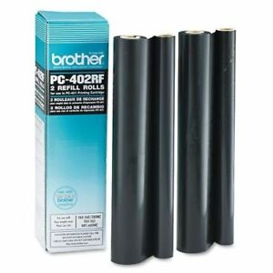Brother Black Refill Ribbon Rolls Black Thermal Transfer 150 pc402rf