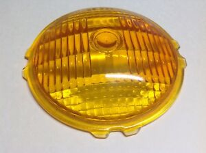 Ls 371 Glass Amber Vintage Turn Lamp Lens Early Signal Light 4 7 16