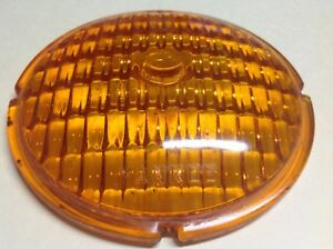 Lqqk Glass Amber Yankee Vintage Turn Lamp Lens Early Signal Light 4 7 16