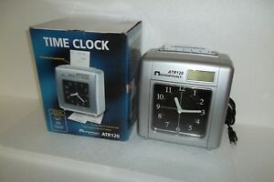 Acroprint Atr120 Electronic Time Recorder Clock Top loading Cmos Battery Backup