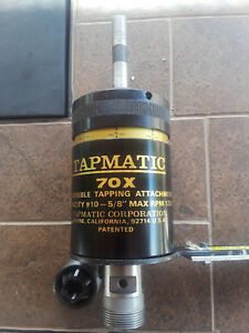 Tapmatic 70x Reversible Tapping Attachment Capacity 10 5 8 1200 Rpm 1 2 Shank