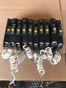 Lot Of 10 Square D Qo Qo120gfi 1 Pole 20 Amp 120v Ground Fault Circuit Breaker