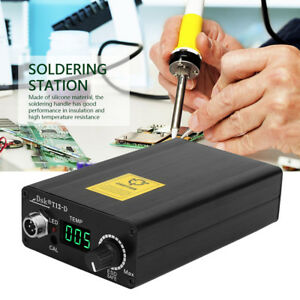 Digital Soldering Iron Station Temperature Controller Kits W t12 Silicone Handle
