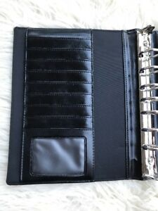 Franklin Covey 7 Ring Binder Organizer Credit Card Holder 1 Planner Black