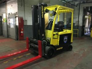 2013 Hyster 7000 Lb Electric Forklift With Side Shift And Fork Positioners