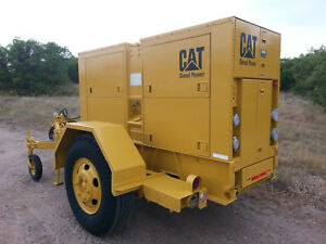 Cat Diesel Generator 100kw 125kva Low Rpm 1 And 3 phase Trailer Mounted
