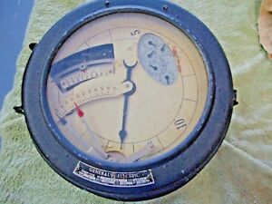 Antique General Electric Demand Meter Form W type Gms 10 60 Cyc 120 V 714738