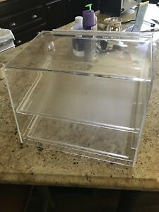 Cal mil 2 Tray Countertop Display Case Bakery Donut Pastry