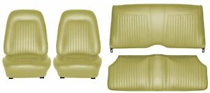 1968 Camaro Coupe Standard Interior Seat Cover Kit Oe Quality Ivy Gold