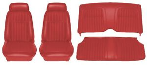1969 Camaro Deluxe Comfortweave Interior Seat Cover Kit Oe Quality Red