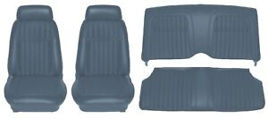 1969 Camaro Deluxe Comfortweave Interior Seat Cover Kit Oe Quality Dark Blue