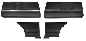 1967 Camaro Coupe Standard Door Panel Kit Pre Assembled Oe Style Black