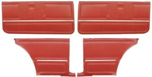 1967 Camaro Coupe Standard Door Panel Kit Pre Assembled Red