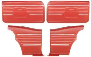 1968 Camaro Coupe Pre assembled Front Rear Door Panel Kit Red