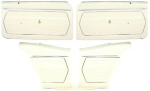1969 Camaro Coupe Pre assembled Front Rear Door Panel Kit White