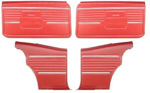 1968 Camaro Coupe Standard Door Panel Kit Pre assembled Oe Style Red