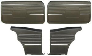 1968 Camaro Coupe Standard Door Panel Kit Pre assembled Oe Style Black