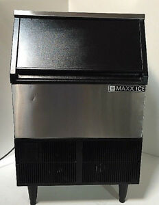 Maxx Ice 260 Lb Self Contained Undercounter Commercial Ice Maker Mim250 Mfg 2017
