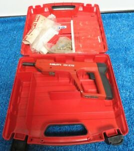 Hilti Dx E72 Dxe72 Powder Actuated Tool Nailer Concrete Nail Stud Gun