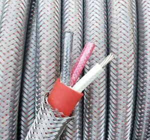 25 Ft Armored 6 3 Awg Gauge Nickel Copper Cable Lszh High Temp Aircraft Wire